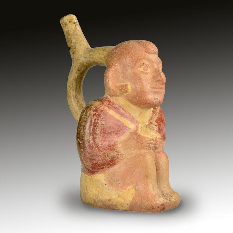 A Moche figural vessel