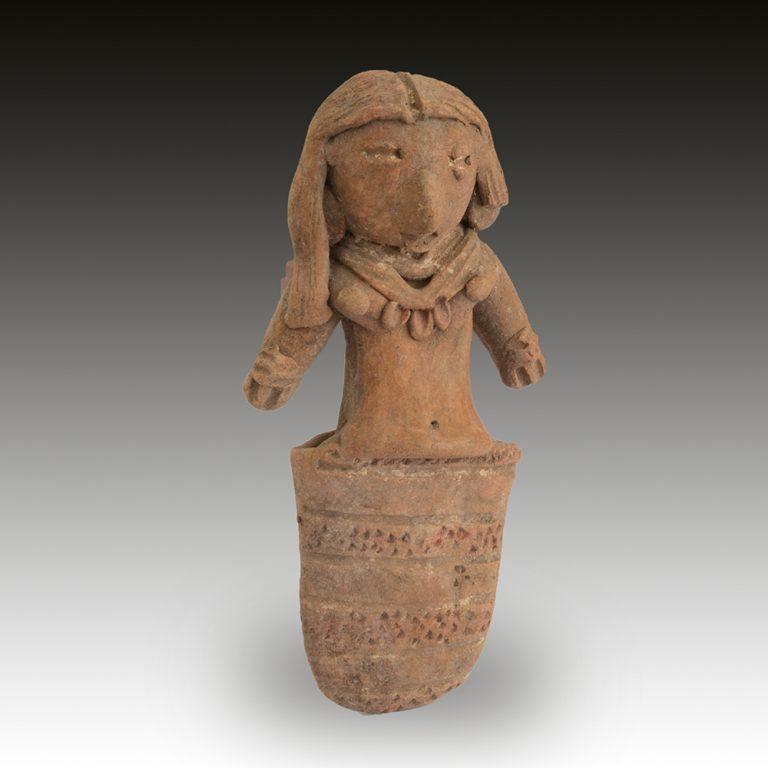 A Michoacan figure of a lady