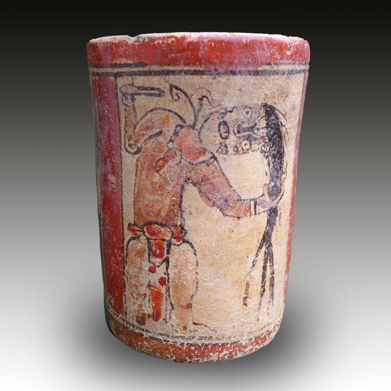 A Maya ceremonial vase