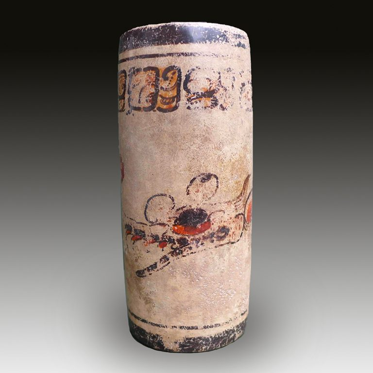 A Maya cup with mythical figure